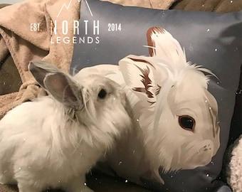 Custom Pet Portrait Pillow, Custom Pet Portrait, Dog Lover Gift, cat lover gift,