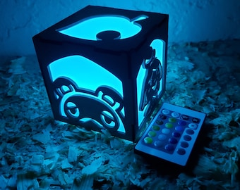 Animal crossing Inspired Lantern - Battery operated remote control led light