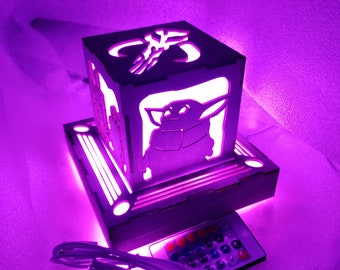 Mandalore wars Inspired Lantern - outlet powered led with remote control - now with Baby Yod