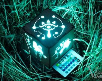 Zelda Breath of The Wild Divine Beast Inspired Lantern - BOTW Sheikah Eye, Medoh, Naboris, Rudania, Ruta - Battery operated remote control