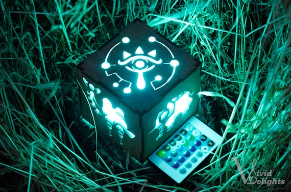 Zelda Breath Of The Wild Divine Beast Inspired Lantern Botw Sheikah Eye Medoh Naboris Rudania Ruta Battery Operated Remote Control