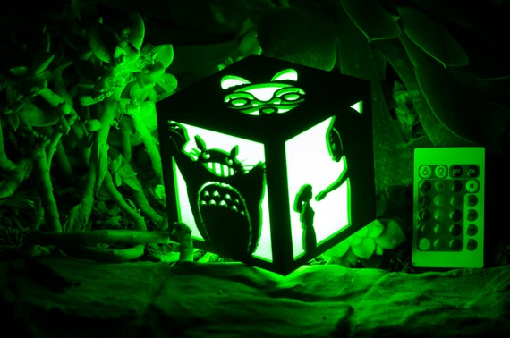 Studio Ghibli Inspired- Totoro, Ponyo, No Face, Princess Mononoke, Howl's Moving Castle Color Changing Lantern