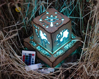 Zelda Breath of The Wild Divine Beast Inspired Lantern - BOTW Sheikah Eye, Medoh, Naboris, Rudania, Ruta with wall powered base