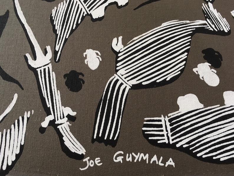 Outstation Critters by Joe Guymala Fabric Length 2 m Linen