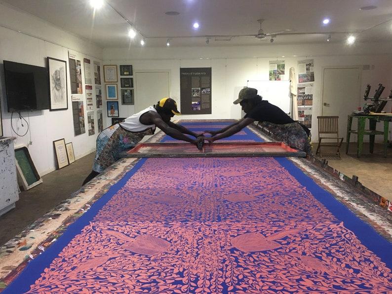 Fabric Length 3m linen cotton Sugar Glider Eating Flowers by Graham Badari