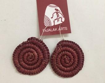 Earrings - Kunkanemkenh (Pandanus earrings)