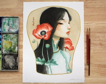 Poppies & Gold - Limited Edition Print