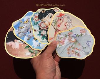 Golden Fan - Sticker Set