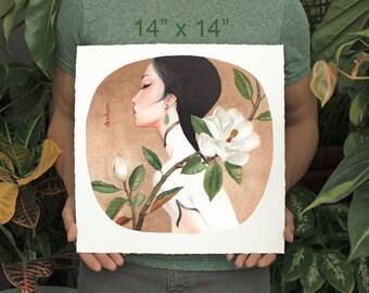 Magnolia & Jade - Limited Edition Print