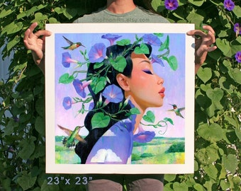 Crown of Morning Glories - Limited Edition Print