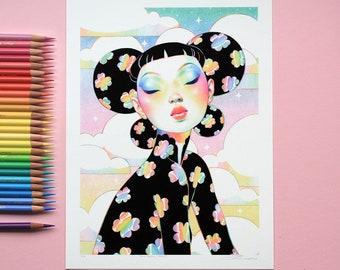 Black Rainbow Clovers - Limited Edition Prints