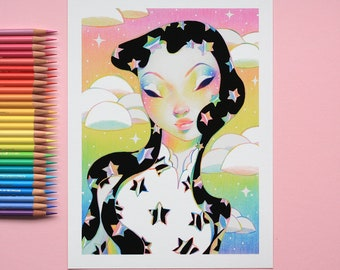Black Rainbow Stars - Limited Edition Prints