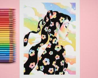 Black Rainbow Blossoms - Limited Edition Prints