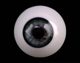 Realistic Round Dark Green /&Black Pupil Glass 20mm BJD Eyes for Reborn Doll