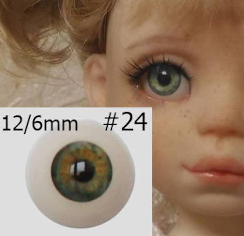 Dark Brown  18mm Half Round Real Eyes~ REBORN DOLL SUPPLIES
