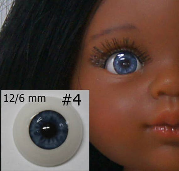 26mm Dark Brown Glastic Realistic Acrylic Doll Eyes