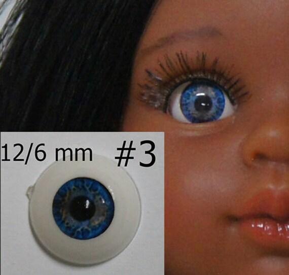 10mm Blue Glastic Realistic Acrylic Doll Eyes