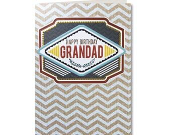 Geo - Happy Birthday Grandad - Birthday Card - Grandad Birthday Card - Grandad - Grandad Greeting Card - GE16