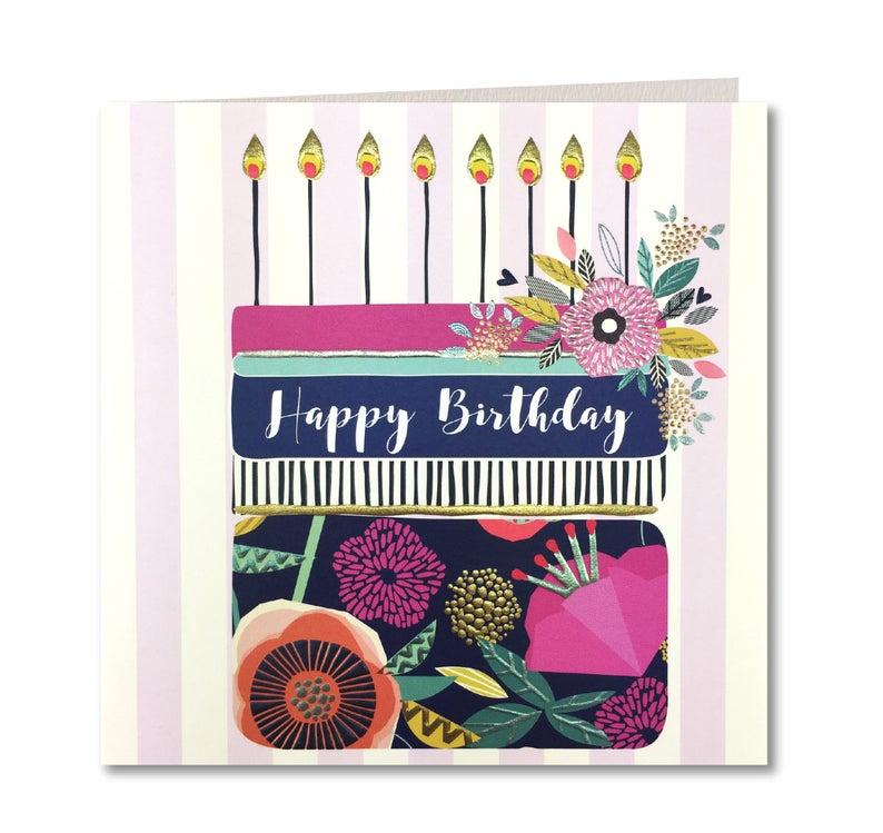 Nouveau Breton Collection Joyeux Anniversaire Carte Danniversaire Pour Ses Rayures Happy Birthday Laura Darrington Design Br37