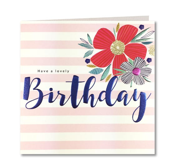 Nouvelle Collection Breton Ont Un Joli Anniversaire Carte Danniversaire Pour Ses Happy Birthday Rayures Laura Darrington Design Br32