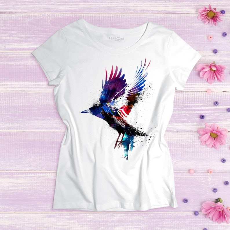 8b7d0cd8 Crow women's t shirt