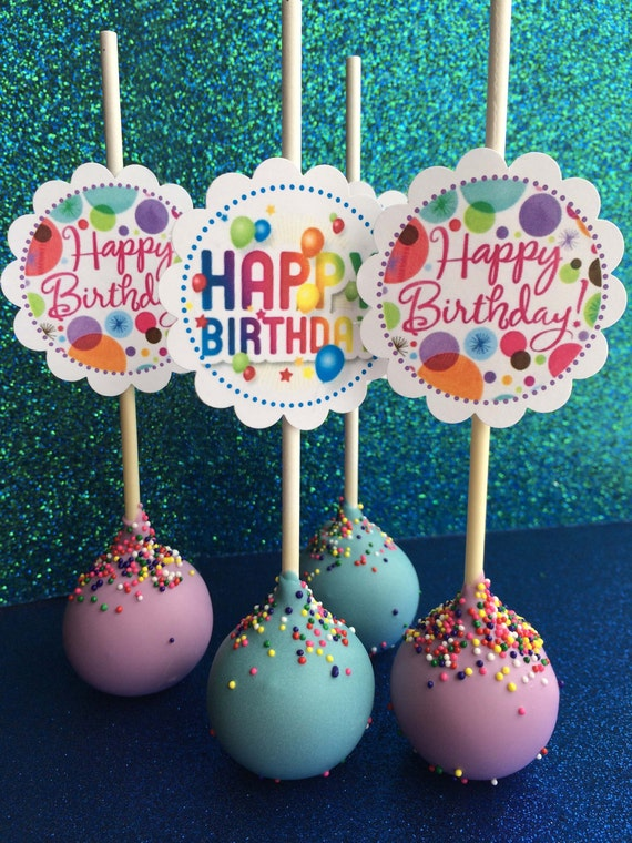 Delicioso Happy Birthday Party Cake Pops Custom Made