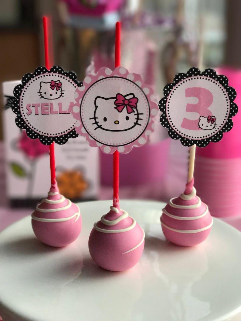 f60885cae Hello Kitty Birthday Cake Pops   Etsy