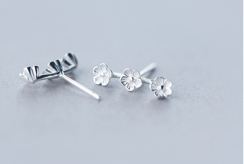 51f451f58 Sterling silver daisy stud earrings daisy earrings daisy | Etsy