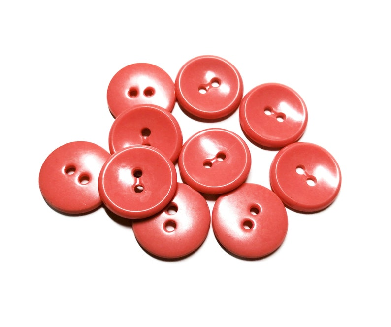 10 plastic buttons Round Vintage Buttons sewing supplies