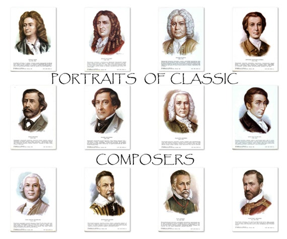Musicians and Composers Clip Art by Kari Bolt Clip Art | TpT
