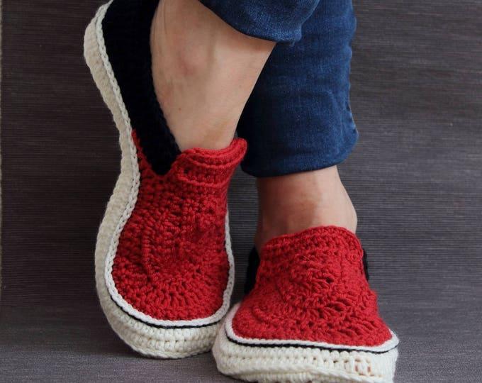 Crochet PATTERN  Vans style slippers