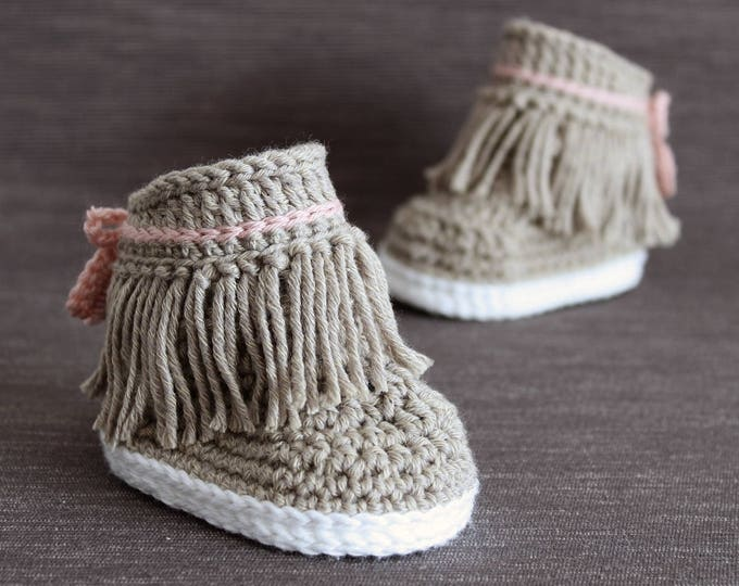 Crochet PATTERN. Dakota baby sneakers.
