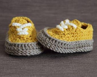 Crochet PATTERN  baby Classis sneakers