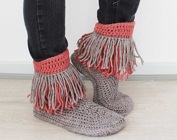 Crochet PATTERN  Dakota slippers