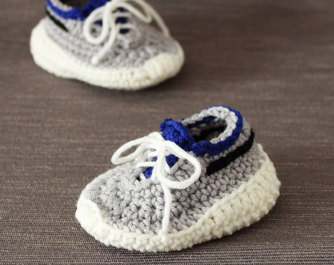 Crochet PATTERN  Super sporty baby shoes
