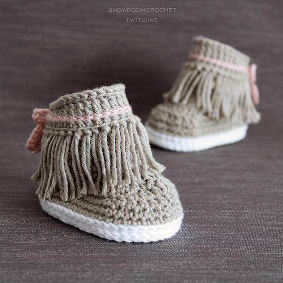 Patron de crochet Botines Dakota para bebe | Etsy
