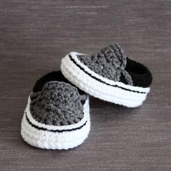Patrón de crochet zapatillas Vans para bebé