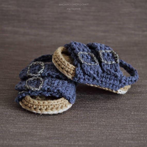Patron de crochet Sandalias de bebe estilo Birkenstock | Etsy