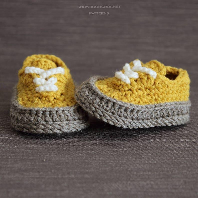 13ecc2efa Patron de crochet zapatitos bebe Classic   Etsy