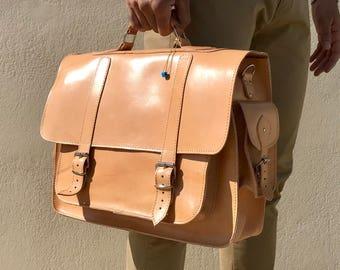Leather Messenger Bag, Briefcase Men, Laptop Bag, Leather Briefcase, 17 inch Laptop Bag, Leather Handbag, Office Bag, Made in Greece.