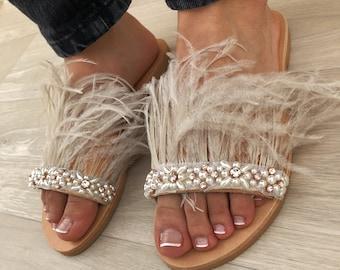 6deacfcb244 Feather sandals