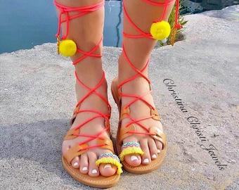 99f0e3a2bda6 Colorful Boho Sandals