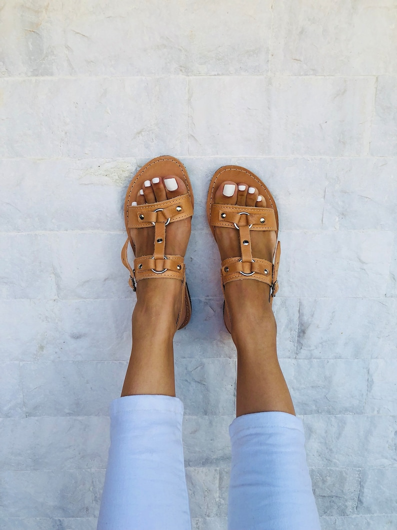 Summer Shoes Gladiator Sandals Women Leather Sandals Made from 100/% Genuine Leather.