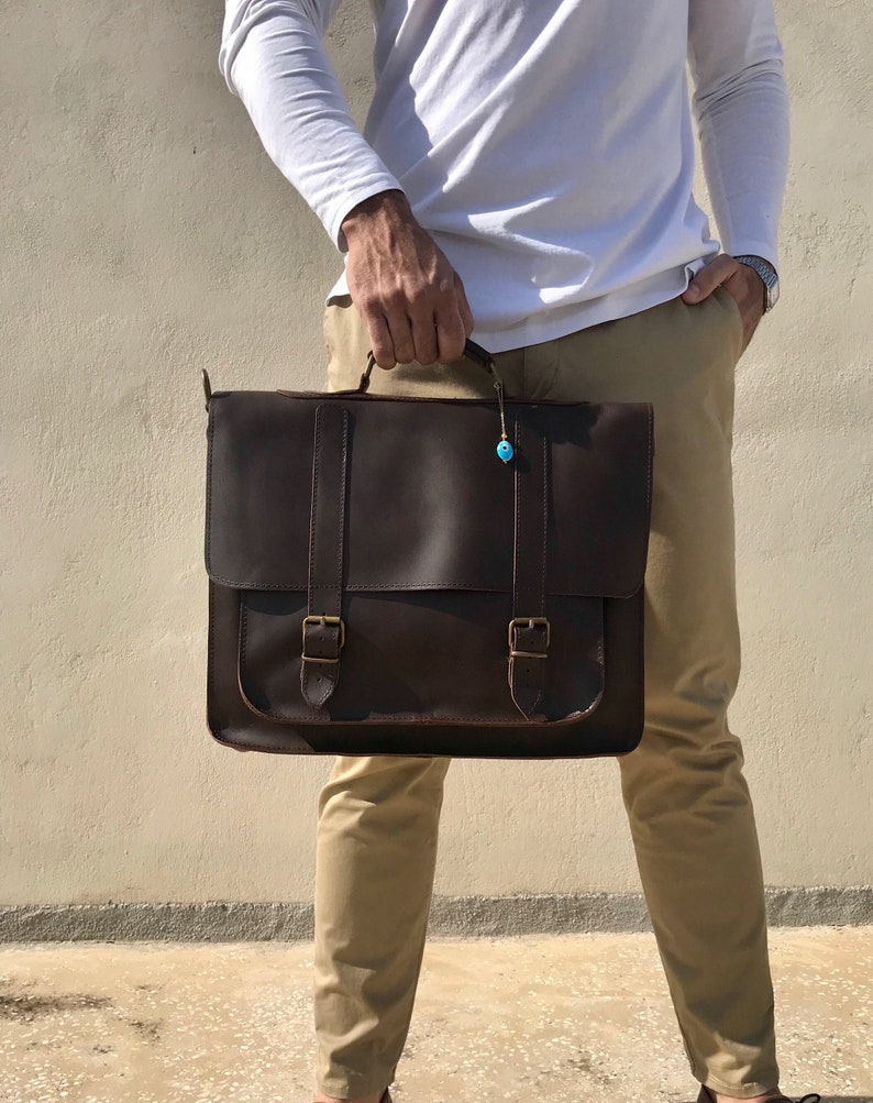 ce8f44f92f 17   Laptop Bag Leather Messenger Bag Men Leather