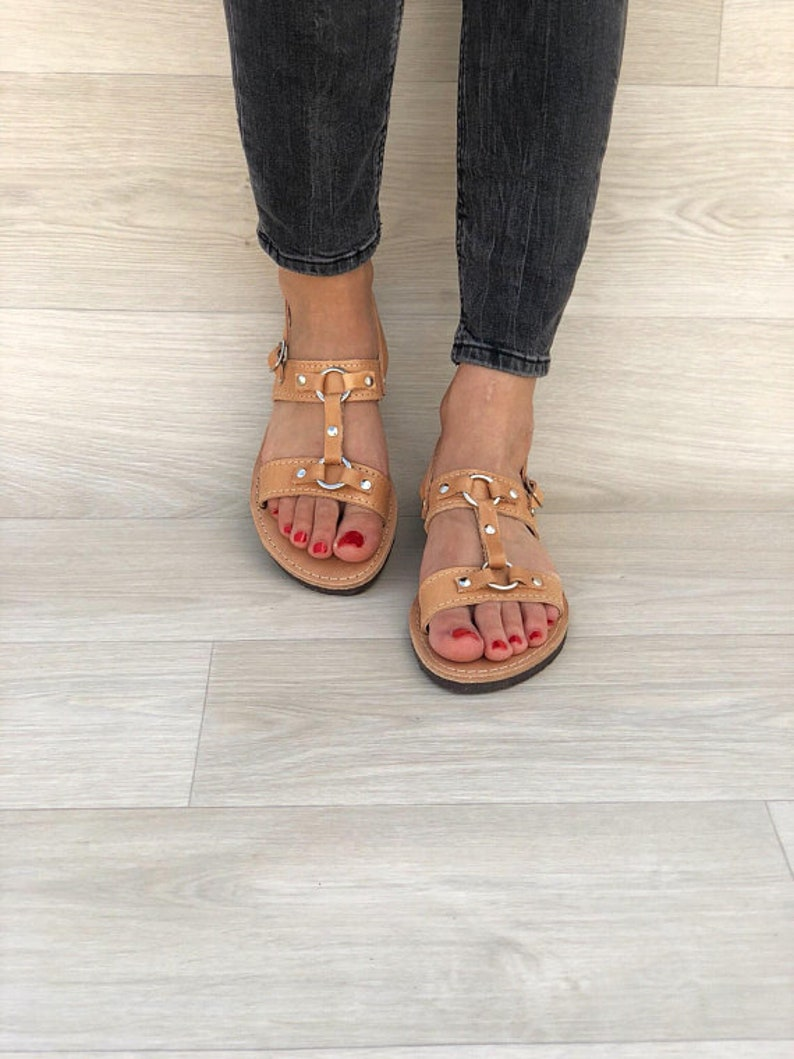 Summer Shoes Women Leather Sandals Gladiator Sandals Made from 100/% Genuine Leather.