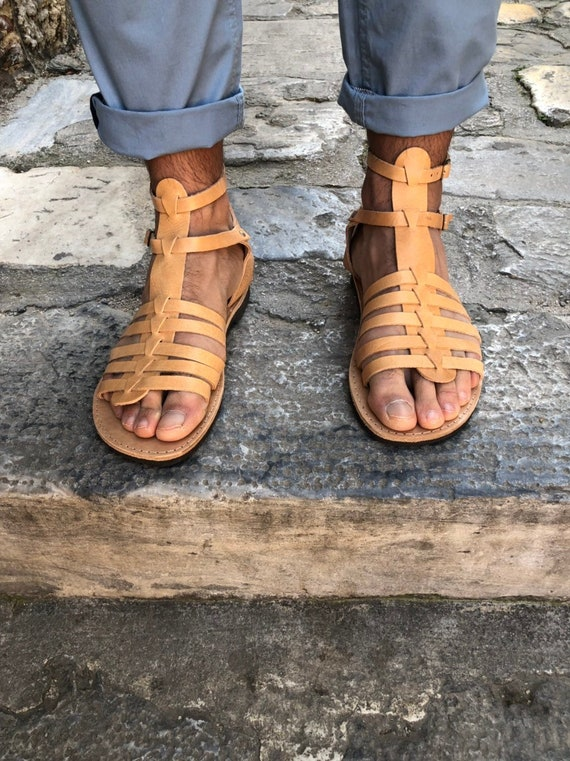 Made from 100/% Genuine Leather in Black Color. Gladiator Sandals Leather Sandals Leather Summer Shoes
