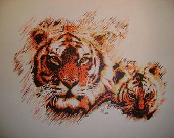 Paintings on canvas set - custom animals theme