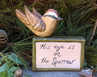 Poetry Blocks (His Eye Is On The Sparrow)