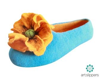 Women's Slippers Custom Made 100% Merino Wool Felted Slippers