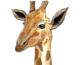 Giraffe Print - Watercolour Painting